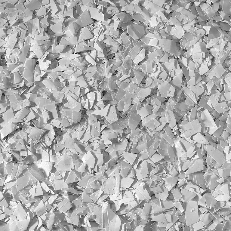 Polietileno blanco triturado