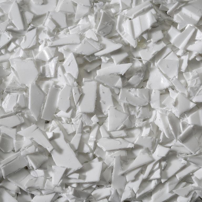 polipropileno triturado blanco